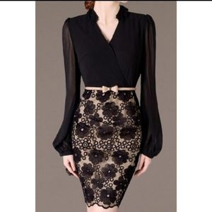 Dresses & Skirts - Elegant V Neck embroidered Dress